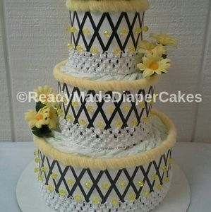 Other - Bumblebee Theme Baby Shower Diaper Cake